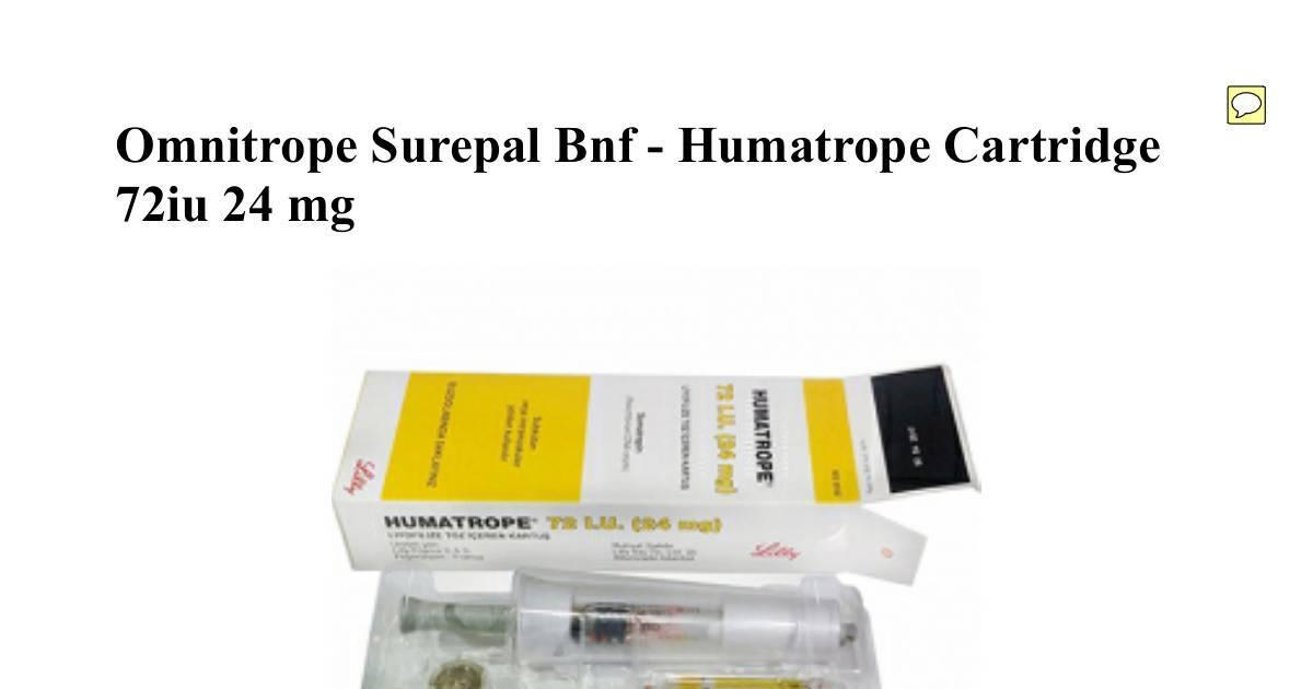 Humatrope cartridge ekspor price