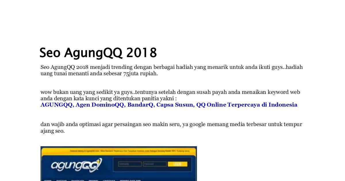 Agungqq Agen Dominoqq Bandarq Capsa Susun Qq Online Terpercaya Di Indonesia Dochub