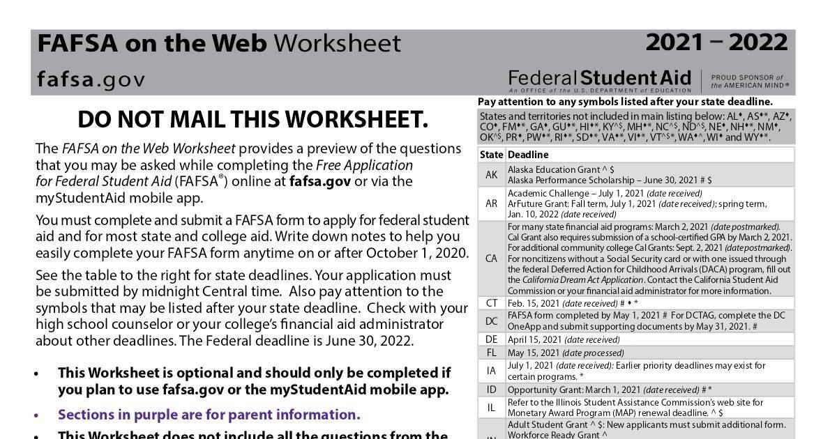 2021 22 fafsa worksheet 1.pdf   DocHub