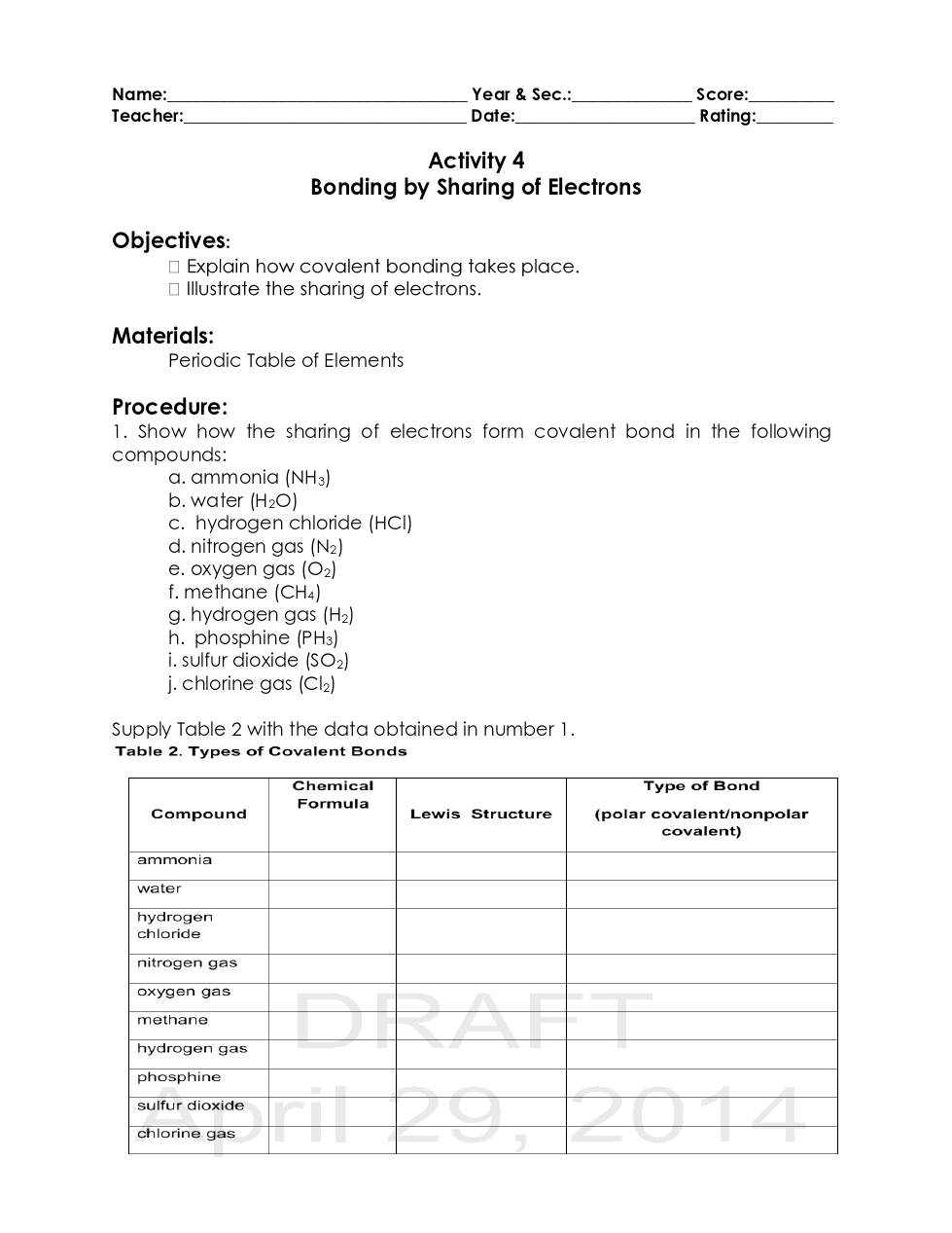 Chemical bonding activities copy dochub page 1 of 12 urtaz Choice Image