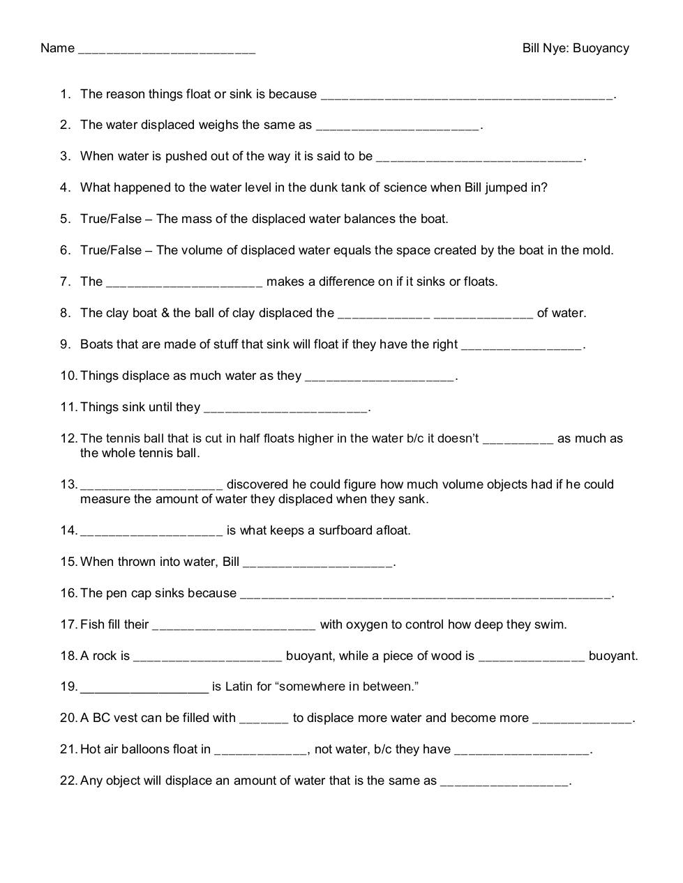 Worksheets Bill Nye Worksheets bill nye buoyancy dochub page 1 of 5