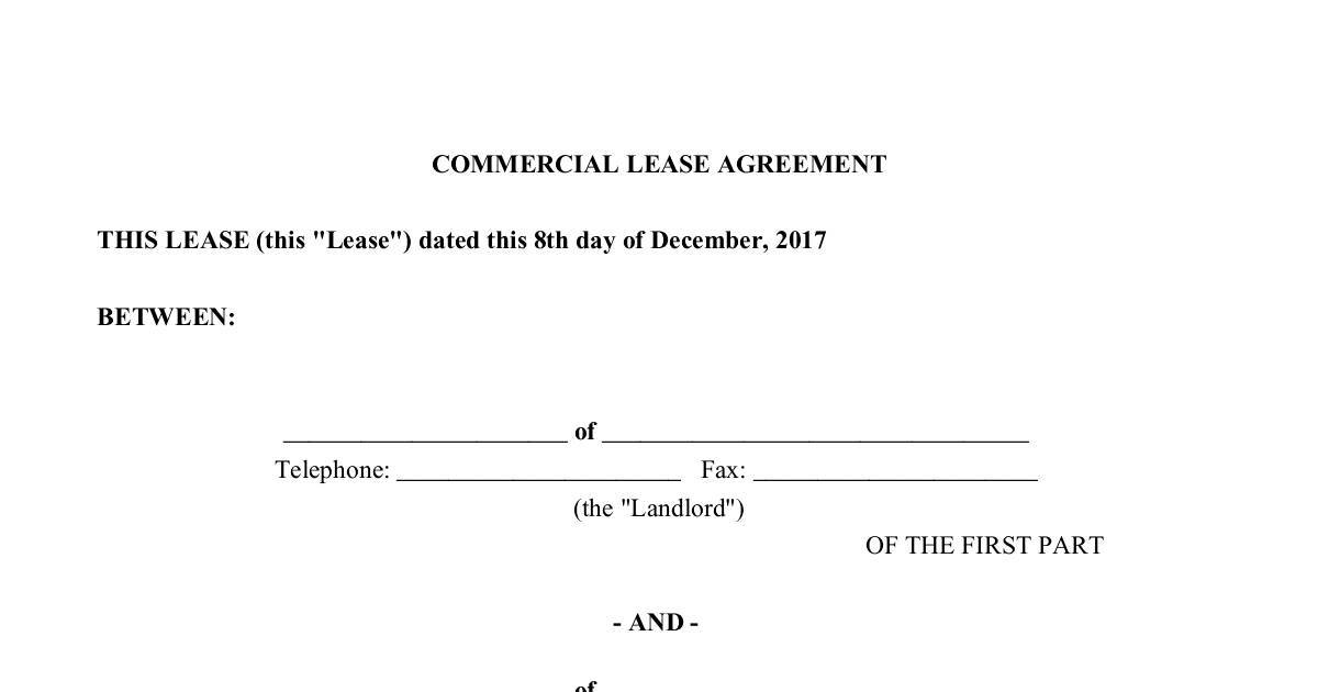 Office Commercial Lease Agreement  Dochub