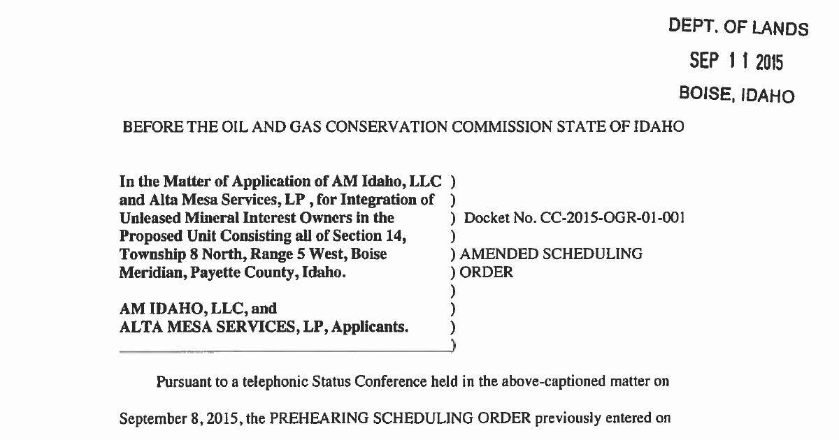 Copy of Amended Scheduling Order-001 | DocHub