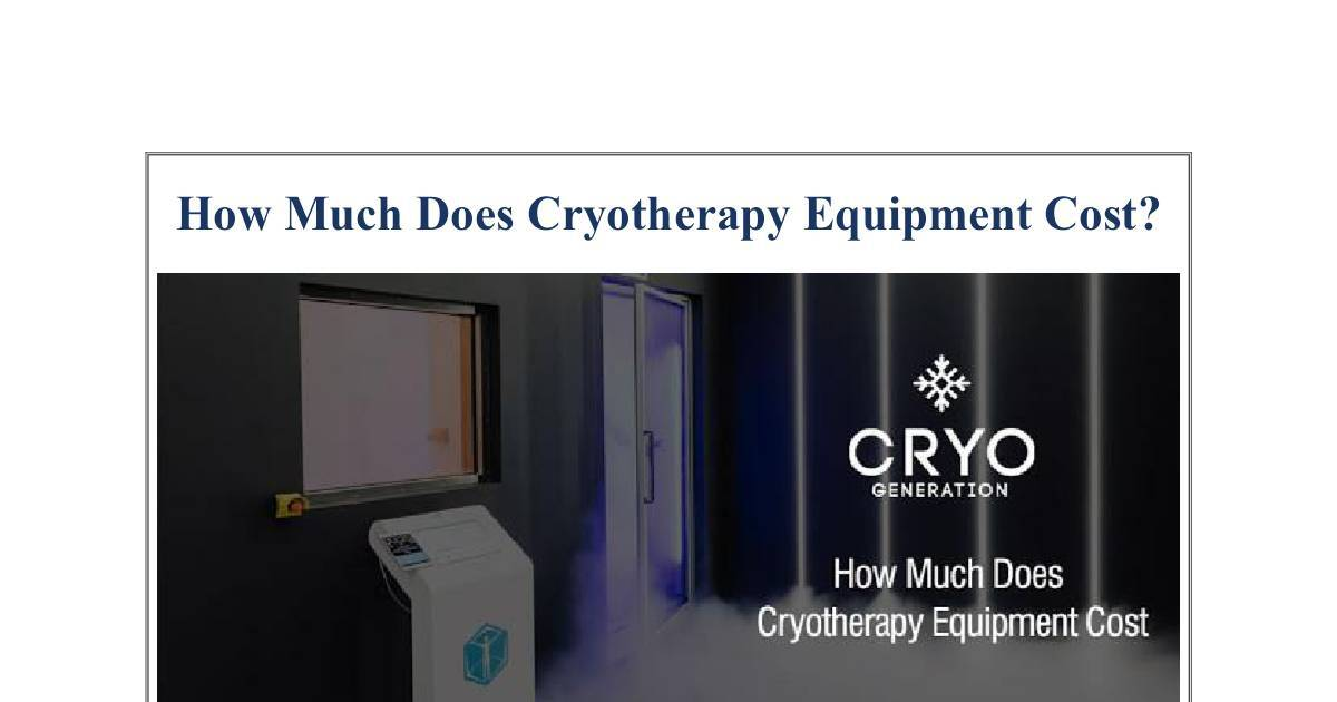Hot dog book : How much does whole body cryotherapy cost