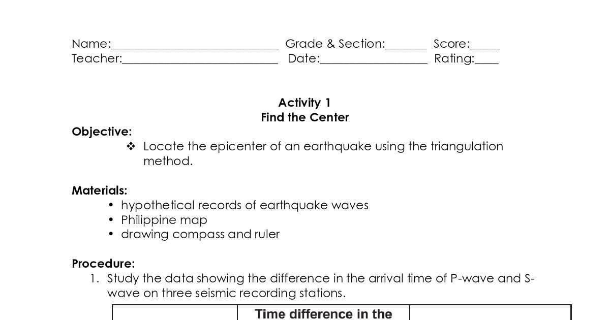 Plate Tectonic Activities Dochub