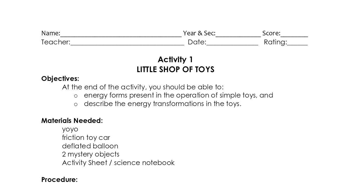 WORK POWER AND ENERGY ACTIVITIES – Work Energy and Power Worksheet Answer Key
