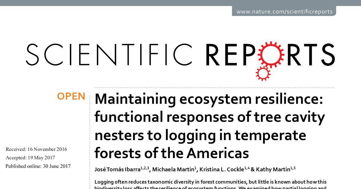 Maintaining ecosystem resilience_functional responses in