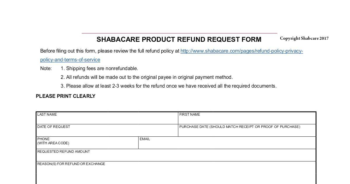 Final Refund Request Form  Dochub