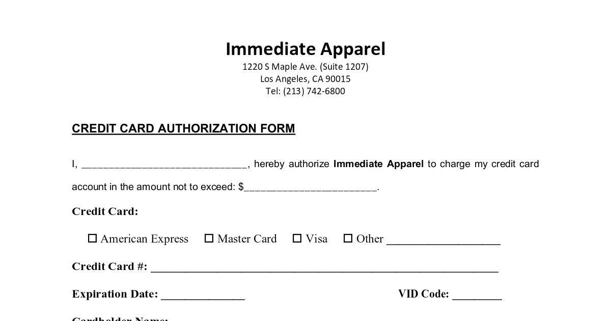 Immediate apparel credit card authorization form 2018 dochub immediate apparel credit card authorization form 2018 dochub thecheapjerseys Image collections