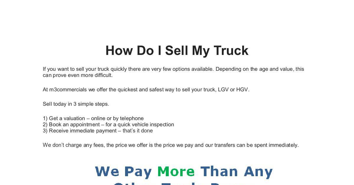 Best I Want To Sell My Truck Ideas - Classic Cars Ideas - boiq.info