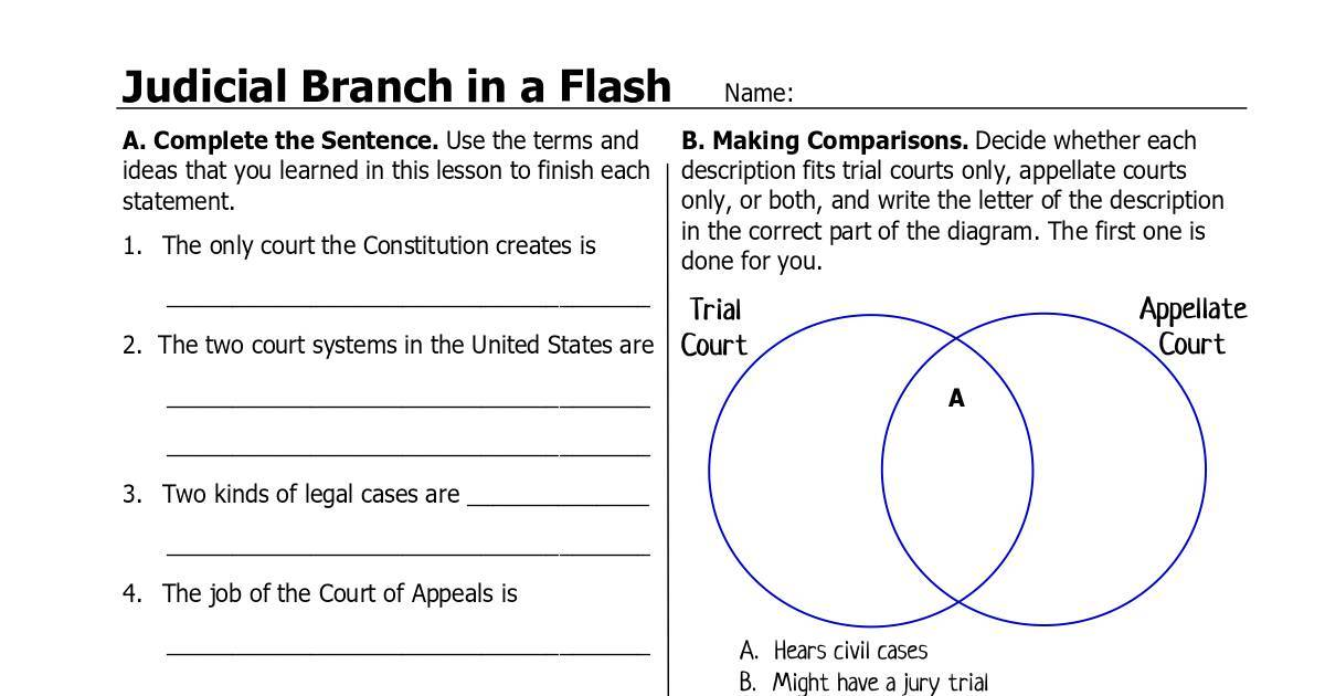 Judicial Branch In A Flash_Activities_fillable.pdf | DocHub