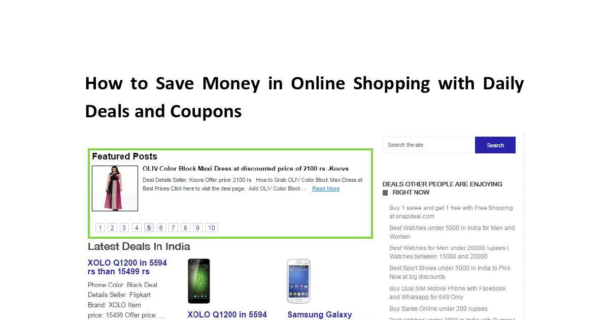 How To Save Money In Online Shopping With Daily Deals And Coupons Dochub