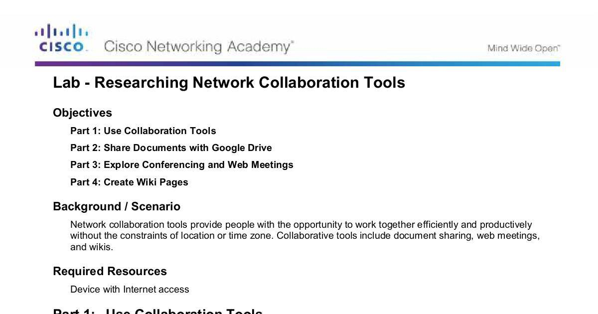 1 1 1 8 Lab - Researching Network Collaboration Tools   DocHub