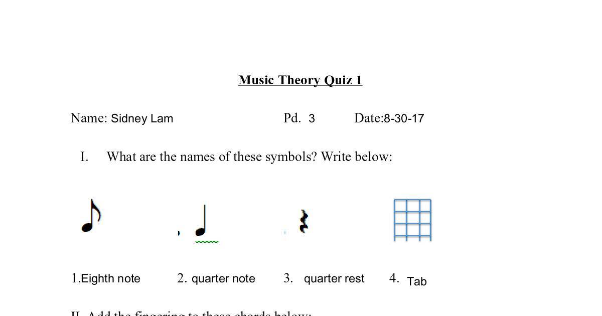 Sidney Lam Template Music Theory Quiz 1 Google Docs Dochub