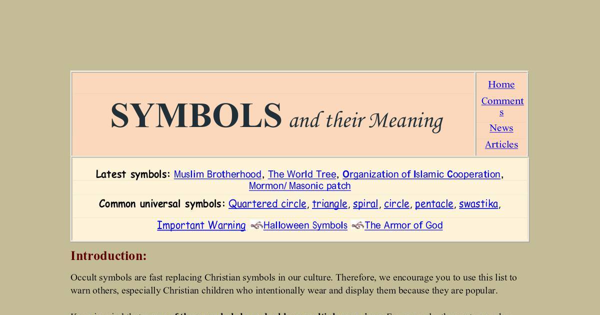 Symbols And Their Meaning Dochub